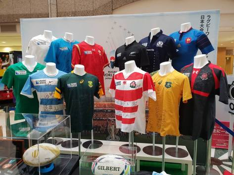 12 of the 20 team jerseys that will be attending #RWC2019 in Japan.