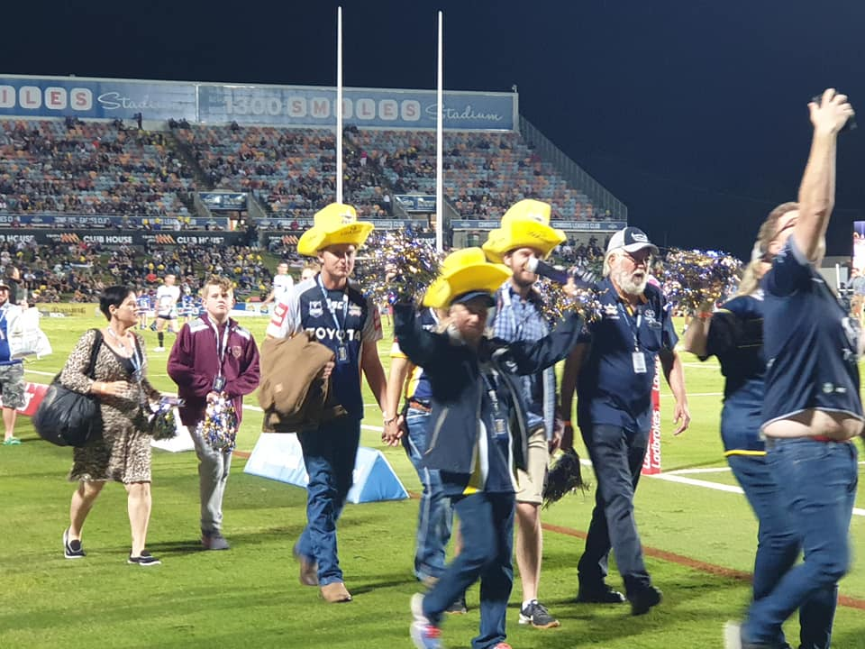 Cowboy supporters at Dairy Farmers